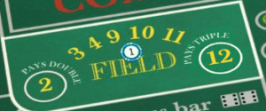 Field Bets on online craps in New Zealand.