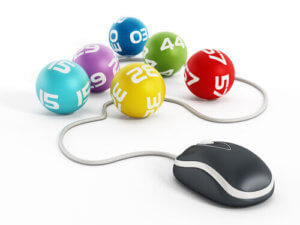 Lottery ball with mouse - online lotteries