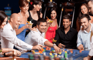 Casino gamblers playing high roller games in New Zealand