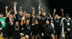 The All Blacks of New Zealand.
