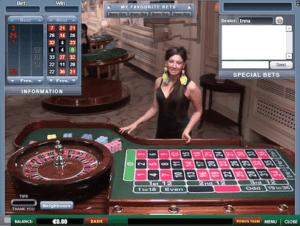 Live Dealer Roulette.