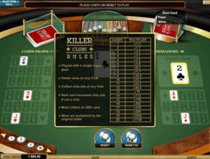 Killer Clubs Casino Game in New Zealand.