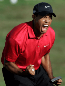 Tiger Woods Roar back.