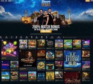 Casino Games at Dream Vegas
